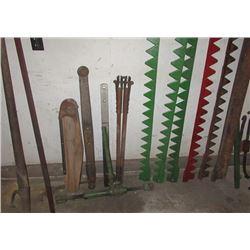 Horse Sickle Knives, Pitman, Load Ratchet Tightener,  & Log Roller