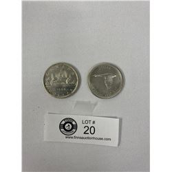 1966 And 1967 Canadian Silver Dollars