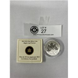 2012 $10 Fine Silver Coin In Original Package