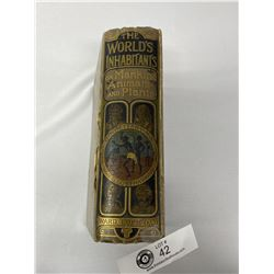 1891 The Worlds Inhabitants Hard Cover Book