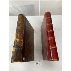1854 And 1858 Art Journal Hard Cover Books, Large Format