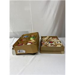 Nice Lot 2 Boxes Of Christmas Decorations 1940s & 50s