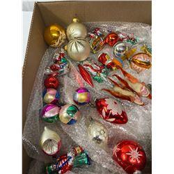 Nice Box Lot Of Vintage Christmas Decorations