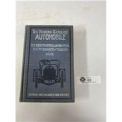 1918 Edition Modern Gasoline Automobile Hardcover Book