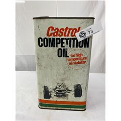 Vintage 1 Gal Castrol Competition Oil Can, Full