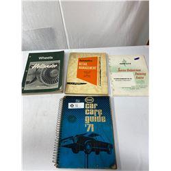 Lot Of 4 Vintage Service Manual Books