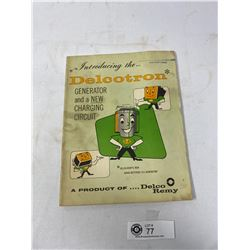 Vintage 1962 Delco Tron Generator And New Charging Circuit Manual