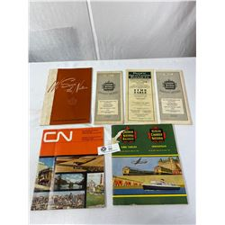 Nice Lot Of Collectible Canadian National Railways Time Tables And Books