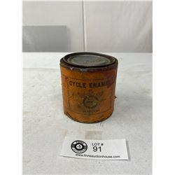 Vintage CCM Paper Label Cycle Enamel Paint Tin