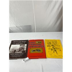 Lot Of 3 Vintage Books On Gold Rush, Fire Fighting And Construction
