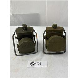 Pair Of WW2 Canadian/British Soldiers Lanterns