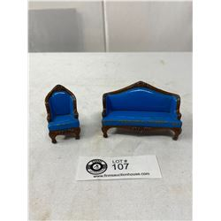 Metal Diecast Sofa And Chair Dollhouse Furniture
