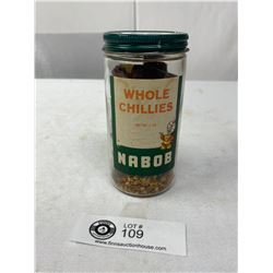 Vintage Nabob Jar And Contents