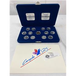 1992 Commemorative Dollar And Silver 25c Pieces In Presentation Box And Case, Canada 125 Years
