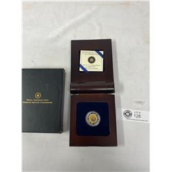 2011 $5 Sterling Silver And Niobium Coin Full Hunters Moon In Original Case