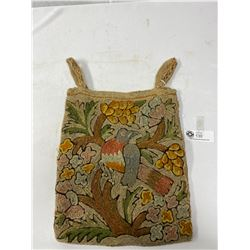 Antique Hand Made Crewel Stich Bag 1890 17.5x11