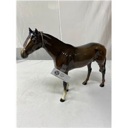 "Large Brown Hunter Horse By Beswick England 11"" Tall Overall Good Condition, 1 Repair To Front Left"