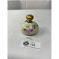 Vintage Hand Painted German Picture Perfume Bottle