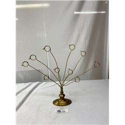 Vintage Brass Jewellery Stand Display