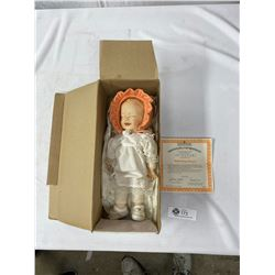 The Ashton Drake Gallery's Baby Orange Sunset Doll With Porcelain Head, Comes With COA