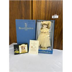 Royal Doulton Nisbet Doll With Porcelain Head In Original Box