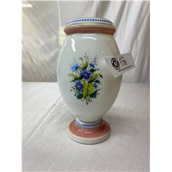 Superb Victorian Milk Glass Vase 1880s (Rim Chips)