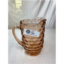 Large Pink Depression Glass Jug