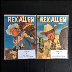 GOLDEN AGE REX ALLEN COMIC BOOK LOT (DELL COMICS)