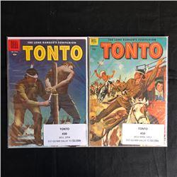 GOLDEN AGE TONTO COMIC BOOK LOT (DELL COMICS)