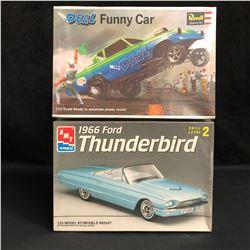 2 SEALED MODEL KITS (AMT 1966 FORD THUNDERBIRD/ REVELL MISS DEAL FUNNY CAR)