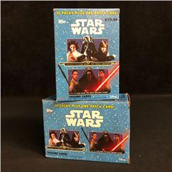 TOPPS STAR WARS TRADING CARDS HOBBY BOX LOT