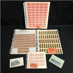 VINTAGE UNCUT STAMP/ CHEQUES SHEETS LOT