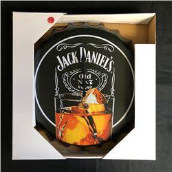NIB JACK DANIEL'S BOTTLE CAP WALL CLOCK