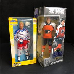 STARTING LINE-UP/ NHL PRO ZONE HOCKEY FIGURES LOT (W. GRETZKY/ E. LINDROS)
