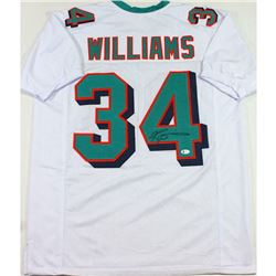 Ricky Williams Signed Jersey - White Pro Style - (Beckett COA)