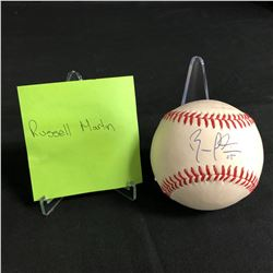 RUSSELL MARTIN SIGNED BASEBALL