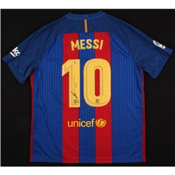 "Lionel Messi Signed FC Barcelona Jersey Inscribed ""Leo"" (Beckett COA)"