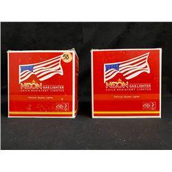 NEON GAS LIGHTERS LOT Premium Quality Lighters (50 Pieces per Box)