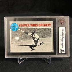 1970 TOPPS #195 SEAVER WINS OPENER! N.L Playoffs Game 1 (6 ENM)