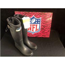 NFL WOMENS RAIN BOOTS (SEATTLE SEAHAWKS) SIZE 6