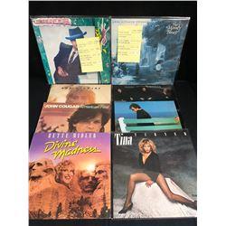 VINYL RECORD LOT (ELTON JOHN, TINA TURNER, BETTE MIDLER...)