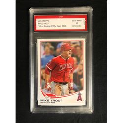 2013 MIKE TROUT TOPPS '12 ROOKIE OF THE YEAR #338 (GEM MINT 10) 1st GRADED