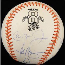 1995 Orioles OAL Baseball Team-Signed by (13) with Cal Ripken Jr., Harold Baines + More... (PSA LOA)