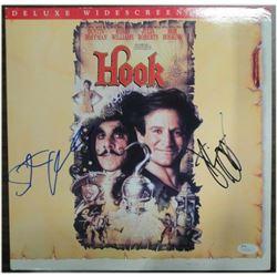 Steven Spielberg Dustin Hoffman Dual Hand Signed Autographed Hook Laser Disk (JSA)