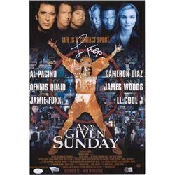 Jamie Foxx Signed Any Given Sunday Miami Sharks 11x17 Movie Poster (JSA COA)
