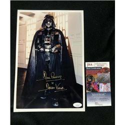 David Prowse Signed & Inscribed Star Wars Darth Vader 8x12 Photo (JSA COA)