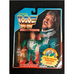 "OFFICIAL WWF HASBRO MOC TED DIABIASE ""MILLION DOLLAR MAN"" (SPANISH CARD)"