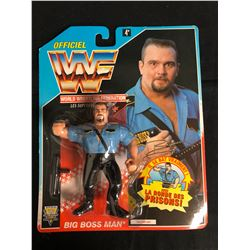 OFFICIAL WWF HASBRO MOC BIG BOSS MAN (FRENCH CARD)