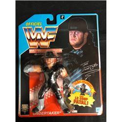 OFFICIAL WWF HASBRO MOC UNDERTAKER (FRENCH CARD)