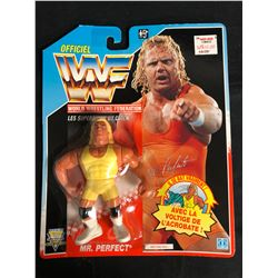 OFFICIAL WWF HASBRO MOC MR. PERFECT (FRENCH CARD)